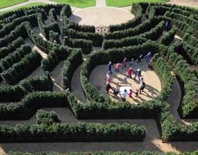 National Trust recreate 'lost' maze